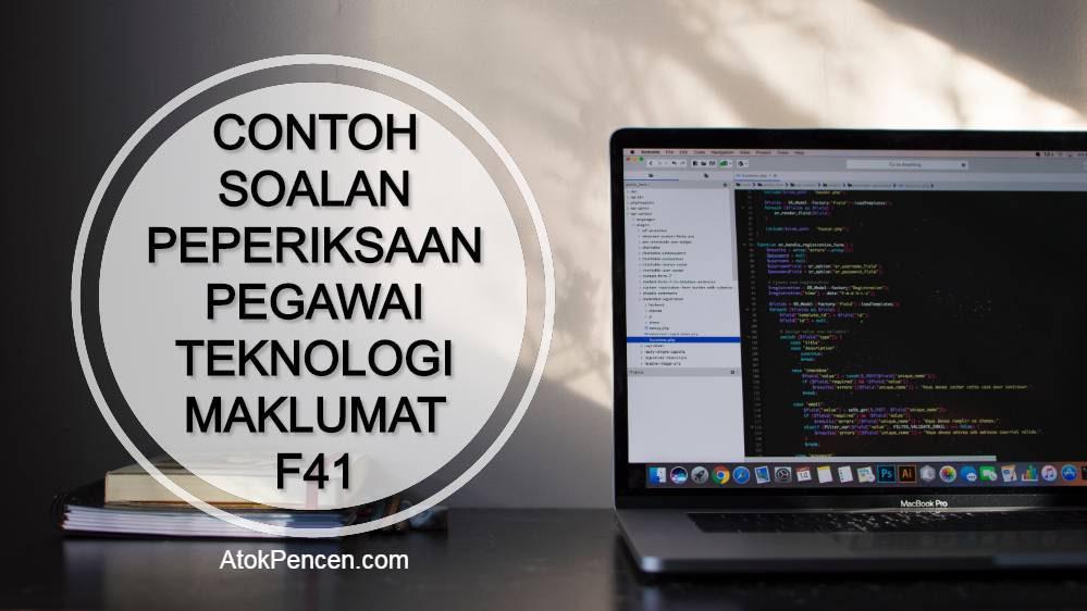 Contoh Soalan Peperiksaan Pegawai Teknologi Maklumat F41 MAMPU